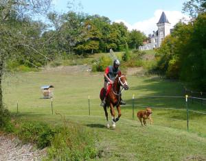 Racing below the castle