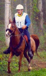 Faiza Urs auf Strecke kurz nach Strurz km 45 2002